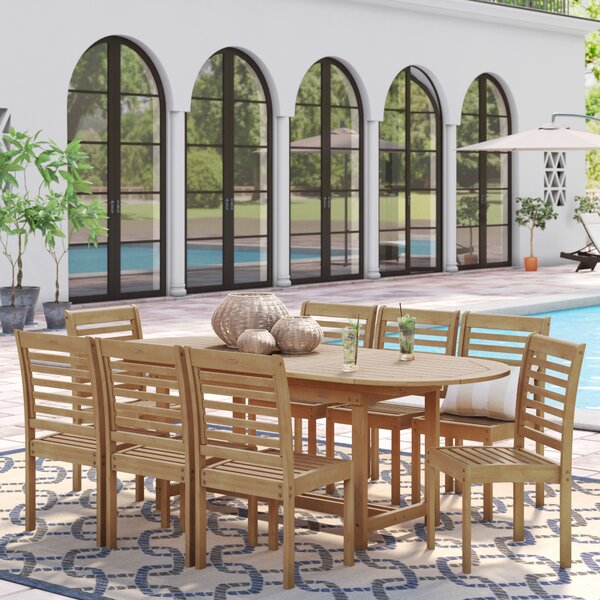 Flinn 9 Piece Dining Set By Beachcrest Home by Beachcrest Home Looking for
