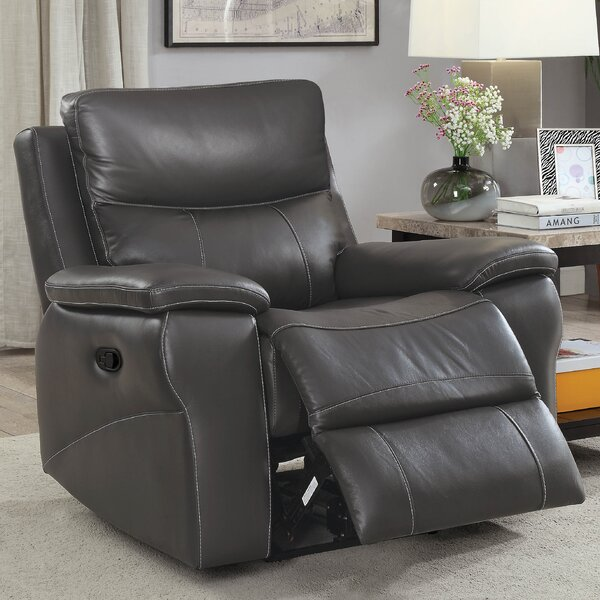 Faulks Leather Manual Recliner By Red Barrel Studio