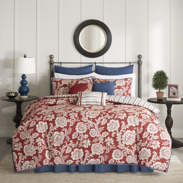 Cerna Cotton 9 Piece Reversible Duvet Set by Three Posts