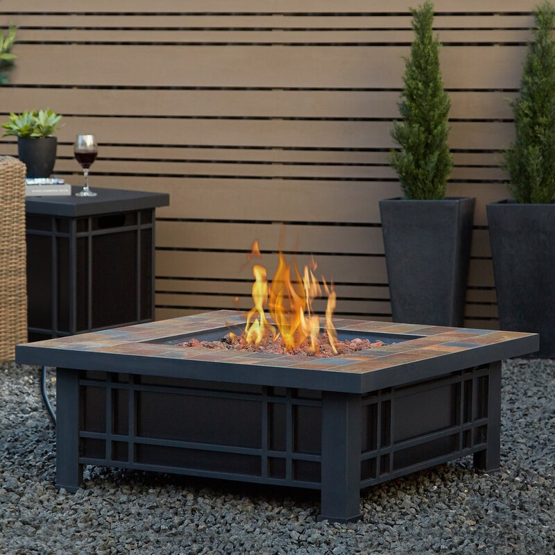 patio fireplace table. Real Flame Morrison Stainless Steel Propane Fire Pit Table Tables