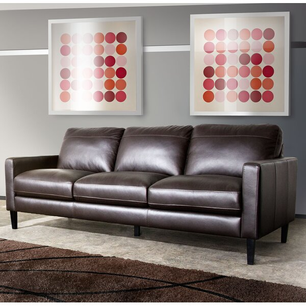 Get Great Deals Omega Leather Sofa by Diamond Sofa by Diamond Sofa