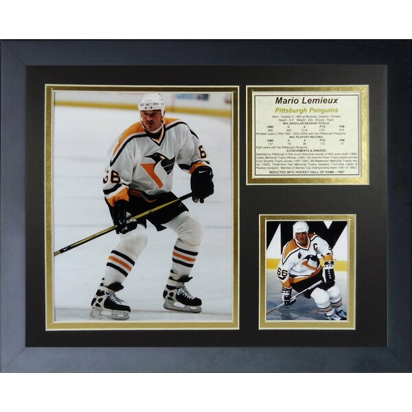 Mario Lemieux - Away Framed Memorabilia by Legends Never Die