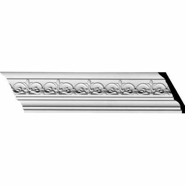 Lisbon Dentil 3 1/2H x 94 1/2W x 3 7/8D Crown Moulding by Ekena Millwork