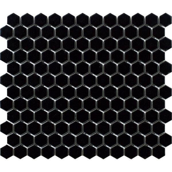 Vintage 0.75 x 0.75 Porcelain Mosaic Tile in Black by Walkon Tile