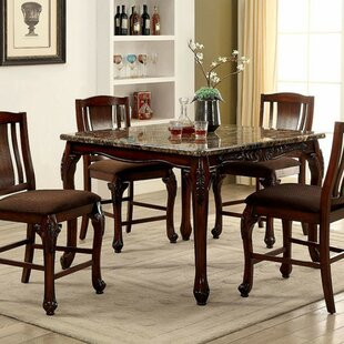 Buy clear Damiansville Traditional Counter Height Dining Table By Fleur De Lis Living