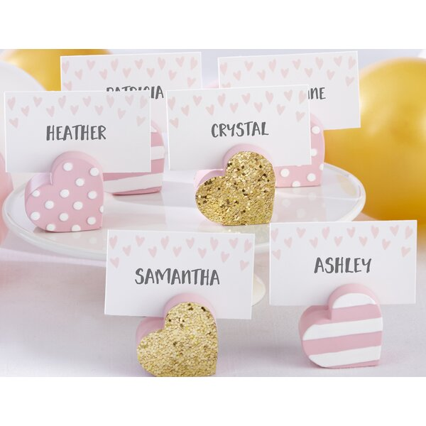 Heart Place Card Holder (Set of 18) by Kate Aspen