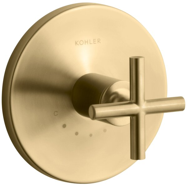 Purist Valve Trim with Cross Handle for Thermostatic Valve by Kohler