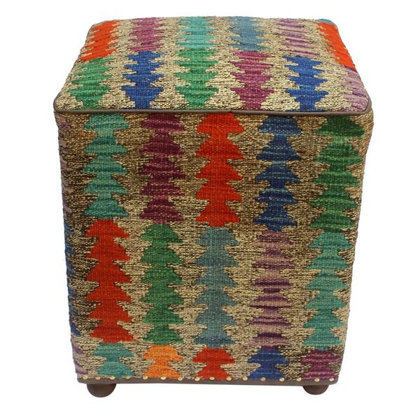 Mcgregor Kilim Cube Ottoman by World Menagerie