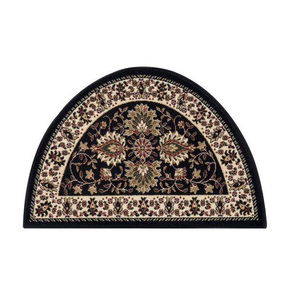 Fanchon Beautiful Hearth Slice Black Indoor/Outdoor Area Rug by Astoria Grand