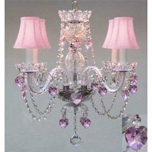 Kania Swarovski 4-Light Shaded Classic / Traditional Chandelier by House of Hampton House of Hampton