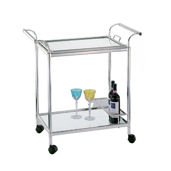 Masini Silver Trolley Bar Cart