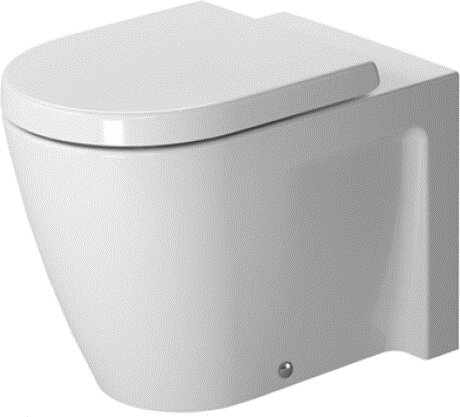 Starck 2 1.28 GPF Water Efficient Elongated Two-Piece Toilet (Seat Not Included) by Duravit