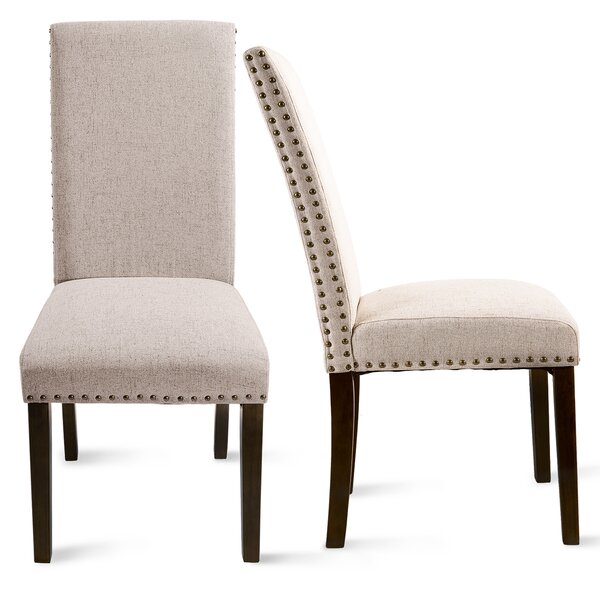 Belgrace Linen Upholstered Parsons Chair (Set Of 2) By Red Barrel Studio