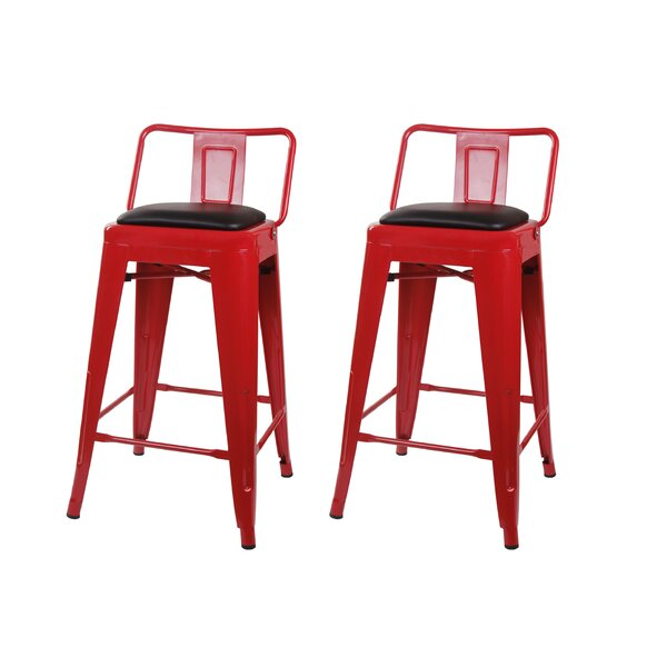 Alric 24 Bar Stool (Set of 2) by 17 Stories