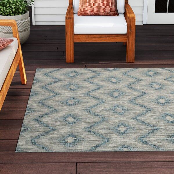 Kaysie Gray/Blue Indoor/Outdoor Area Rug by Sol 72 Outdoor