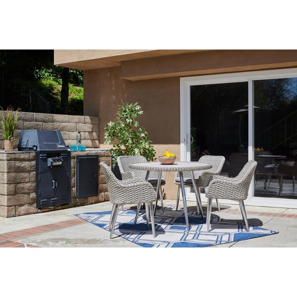 Chacko 5 Piece Patio Dining Set with Cushion by Highland Dunes