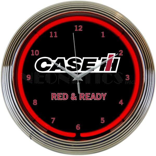 Case IH Ready Neon 15 Wall Clock by Neonetics