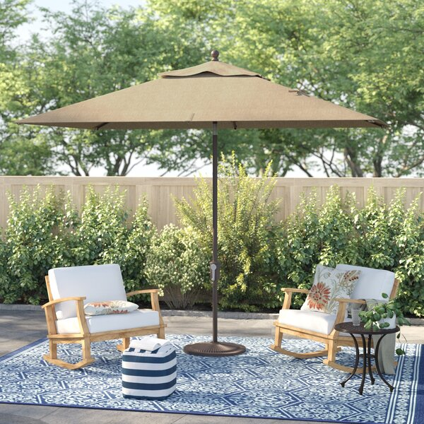 Launceston 6.5' X 10' Rectangular Market Umbrella By Sol 72 Outdoor by Sol 72 Outdoor Reviews