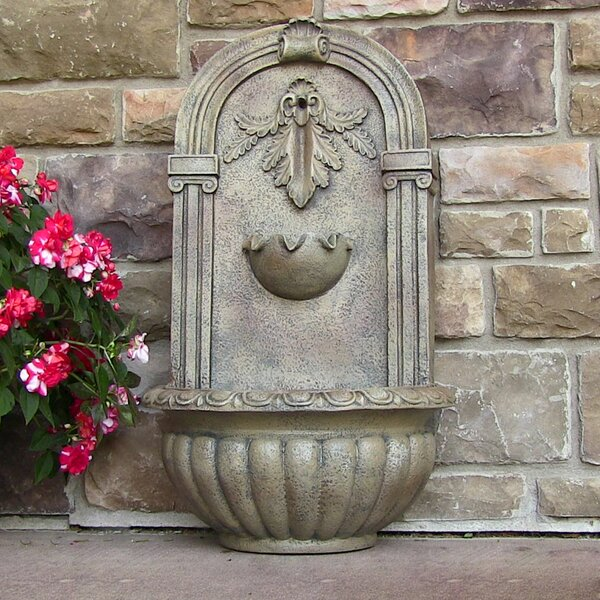 Polystone Florence Solar Garden Wall Fountain by Wildon Home ®