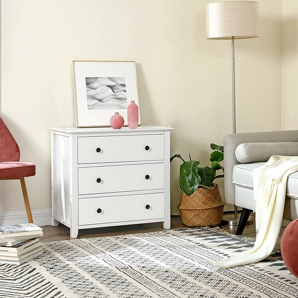 Kingsdown 3 Drawer Nightstand by Highland Dunes