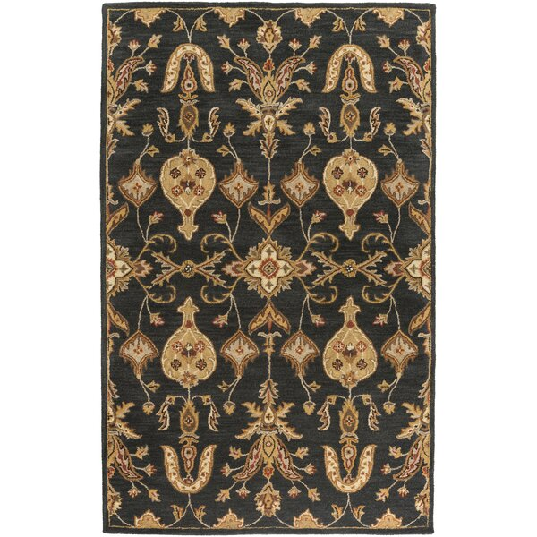 Plemmons Handmade Black Area Rug by Three Posts