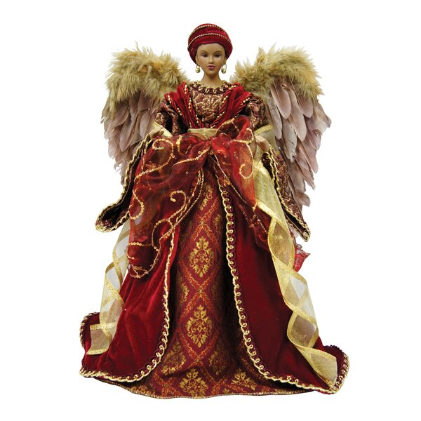 16 American African Diva Angel Tree Topper by Santa's Workshop