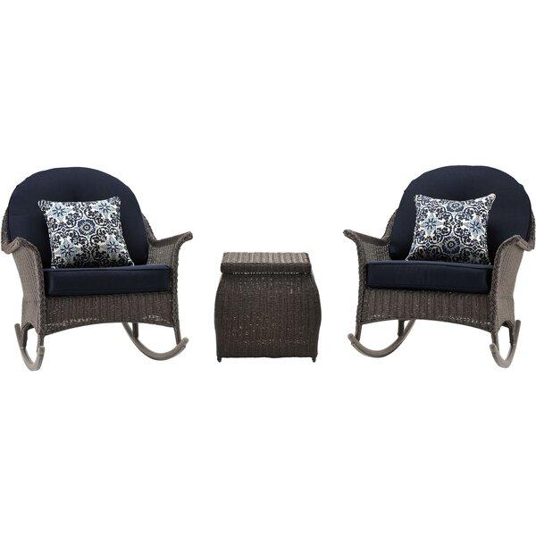 Kinnison 3 Piece Conversation Set with Cushions by Bayou Breeze