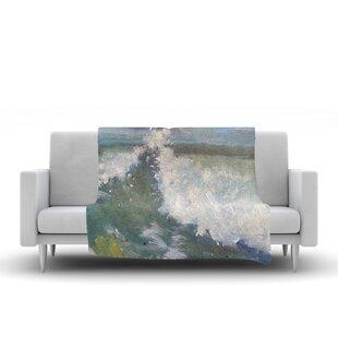 Find Carol Schiff the Crest Nautical Painting Fleece Blanket ByEast Urban Home