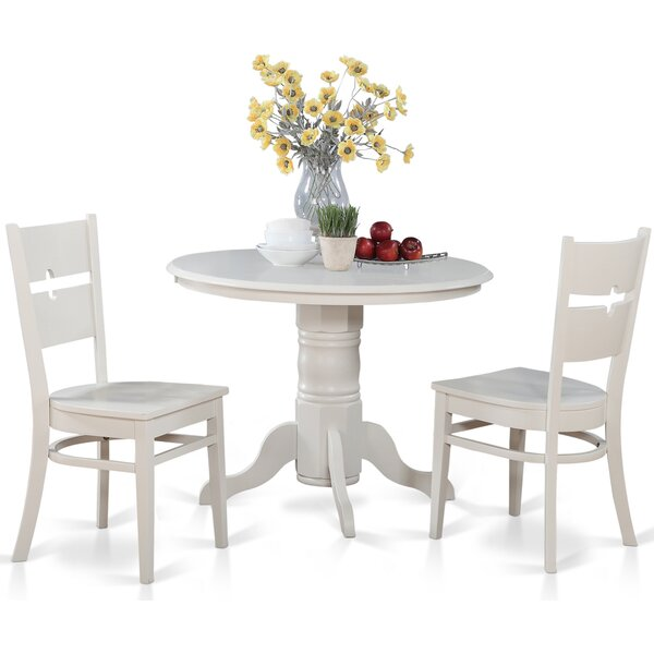 Langwater 3 Piece Wood Bistro Set by Beachcrest Home
