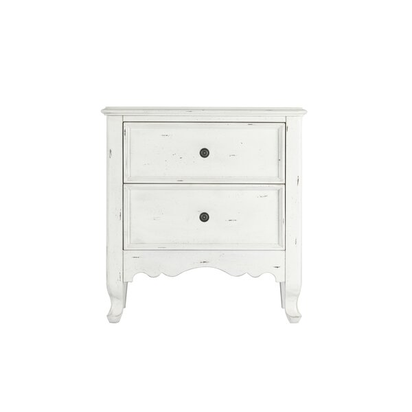 Zeke 2 Drawer Nightstand by One Allium Way