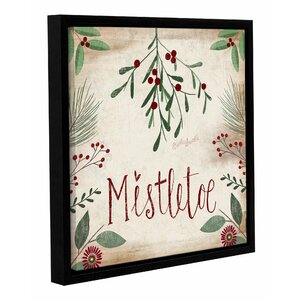 Mistletoe Framed Textual Art on Wrapped Canvas