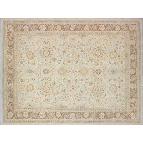 Xenos Hand-Knotted Wool Tan/Light Brown Area Rug by Astoria Grand