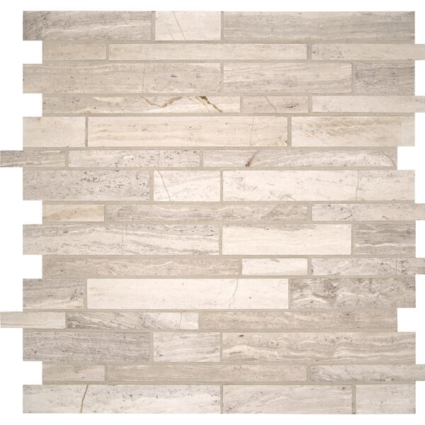 Interlocking Pattern Honed Marble Mosaic Tile in Off-White by MSI