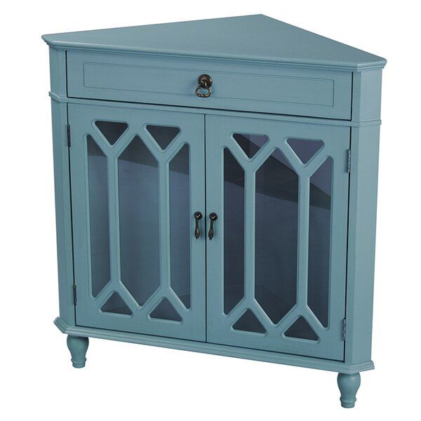 Loughborough 2 Door Corner Accent Cabinet by Highland Dunes Highland Dunes