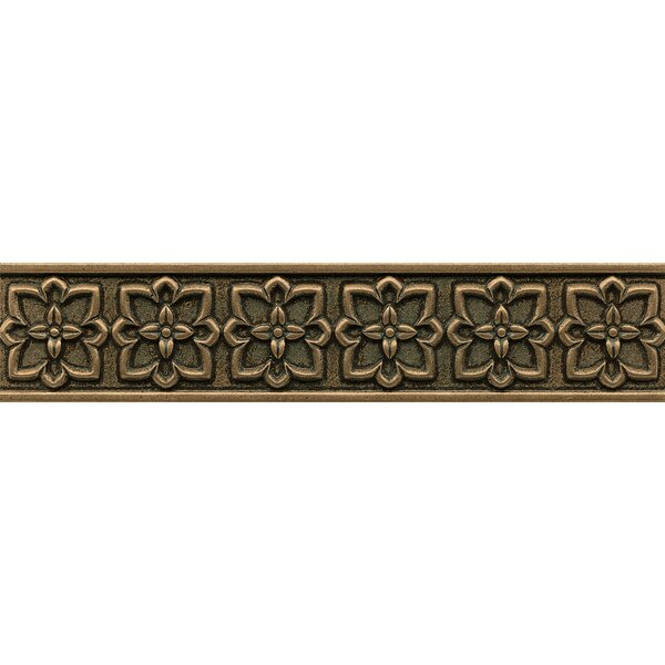 Ambiance Romanesque Liner 2-1/2 x 12 Resin Tile in Bronze by Bedrosians