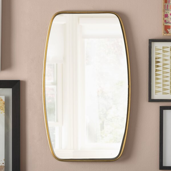 Duke Rectangle Gold Metal Wall Mirror by Mercury Row