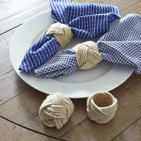 Jute Woven Napkin Rings (Set of 4) by Beachcrest Home