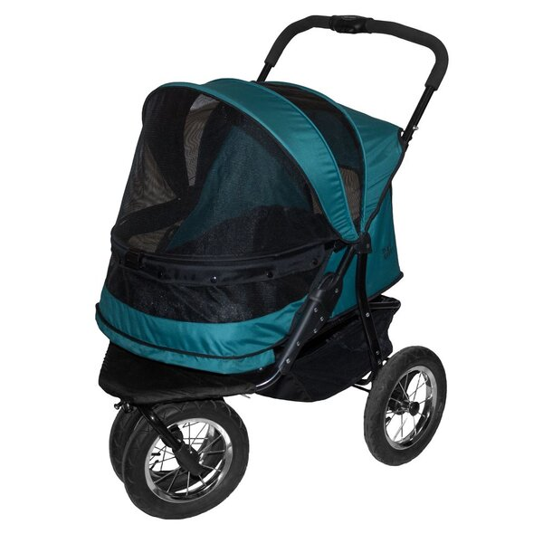 No-Zip Double Pet Stroller by Pet Gear