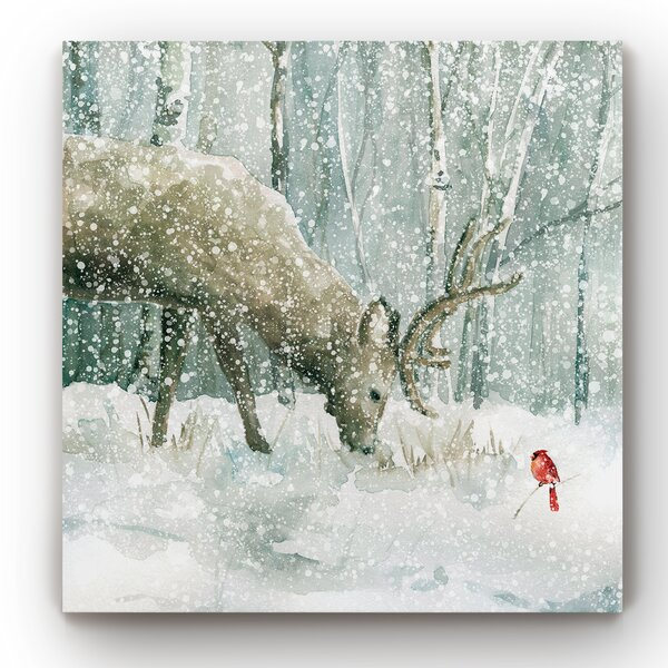 Winter Scene Canvas Art Wayfair