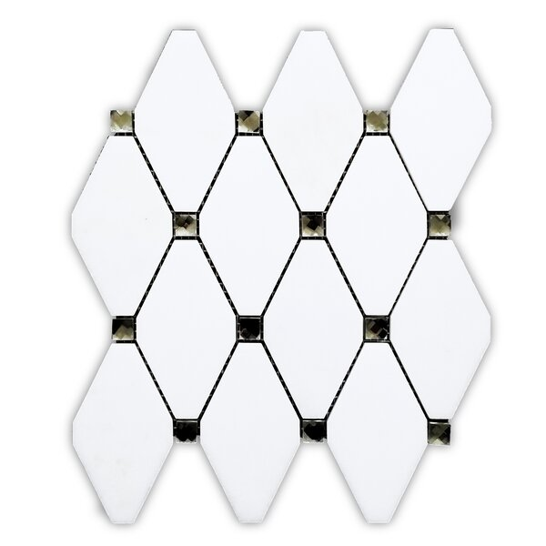 Bianco 11 x 12 Glass/Marble Mosaic Tile