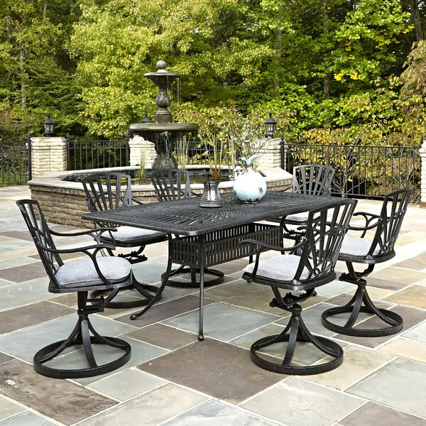 Frontenac 7 Piece Dining Set with Cushions by Astoria Grand