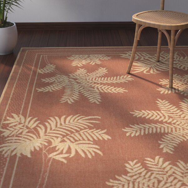 Amaryllis Light Brick Outdoor Rug by Bay Isle Home
