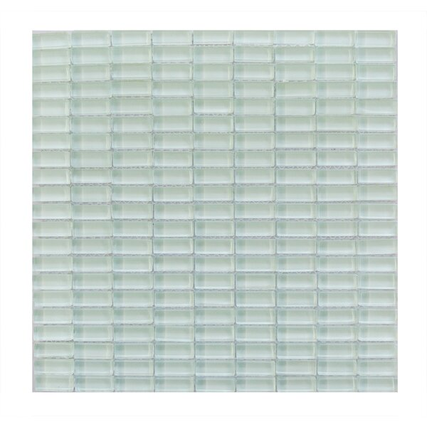 Epiphany 0.5 x 1.25 Glass Mosaic Tile in Light Blue by Abolos