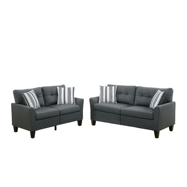 Kozerski Glossy 2 Piece Living Room Set by Red Barrel Studio