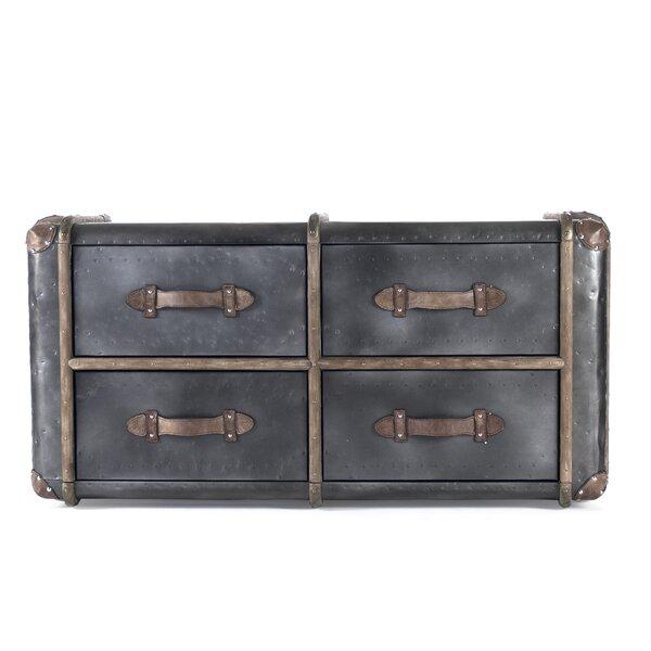 4 Drawer Double Dresser by Zentique