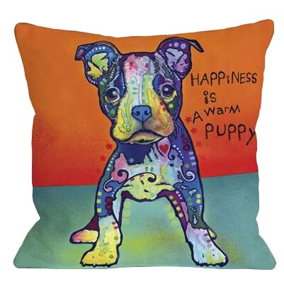Doggy Décor On My Own Throw Pillow by One Bella Casa