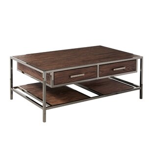 Falkner Modern Industrial Style Coffee Table with Storage