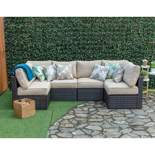 Southside Outdoor 6 Piece Sectional Seating Group with Cushions by Breakwater Bay