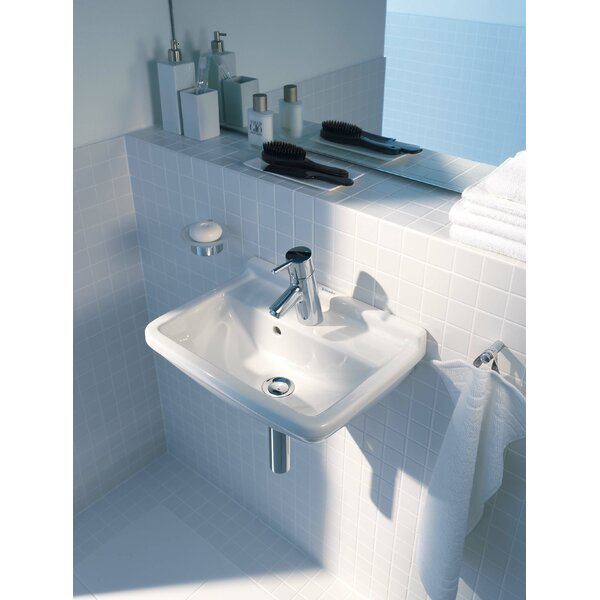 Starck 3 Ceramic Vitreous China Specialty Wall Mount Bathroom Sink with Overflow by Duravit