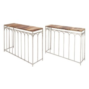 Merriwood Wood Iron 2 Piece Console Table Set by Red Barrel Studio